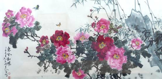 有关诗的水墨画-出版有《华魁牡丹画集》及牡丹画光盘,其作品被艺术与收藏、美术大